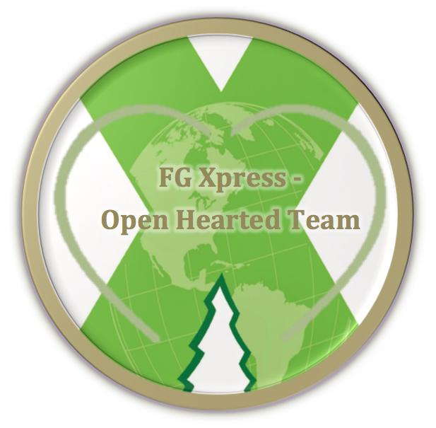 FG Xpress - Open Hearted Team logo